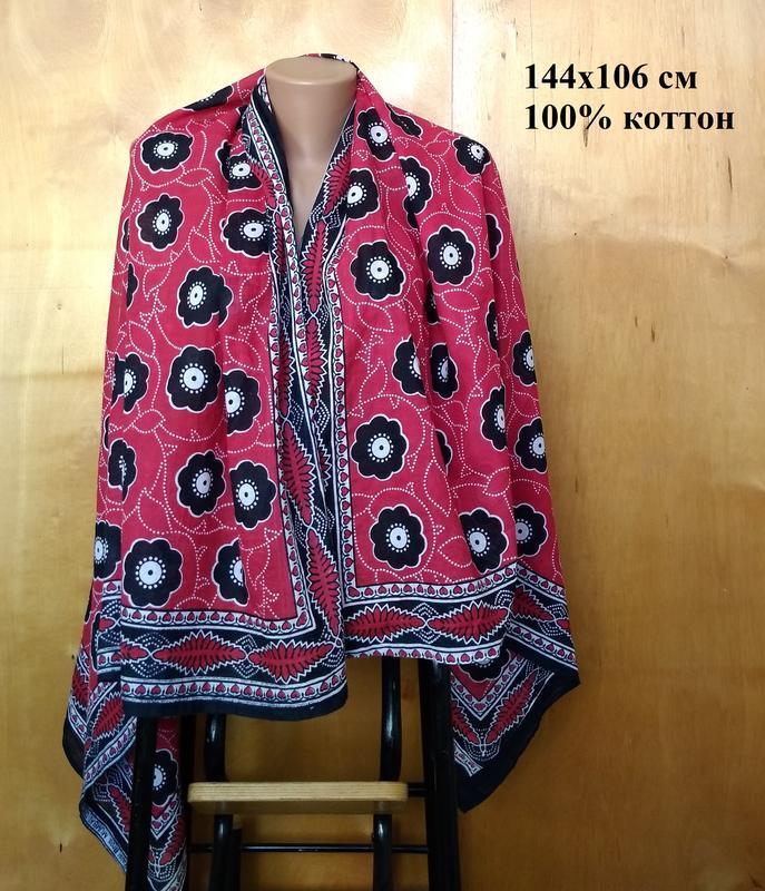 144х106 см изящный натуральный хлопковый платок шаль палантин ...