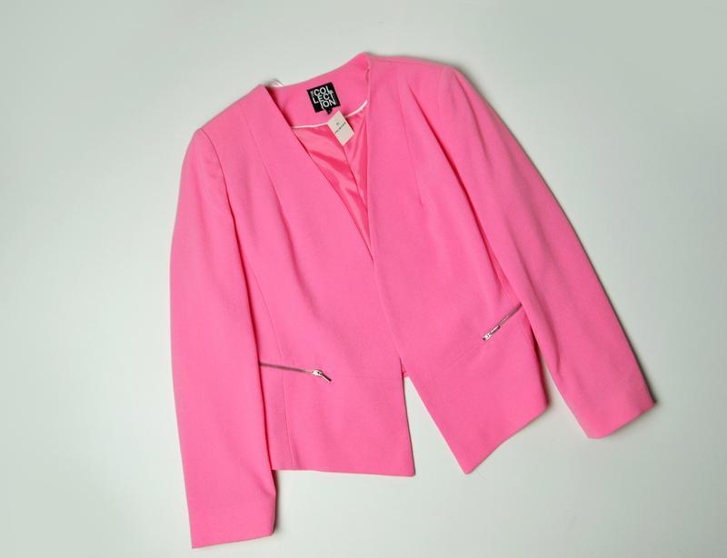 Стильный розовый пиджак классика