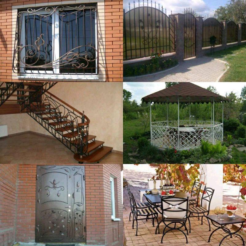 Решетки на окна, двери, лестницы, ворота, беседки, мебель