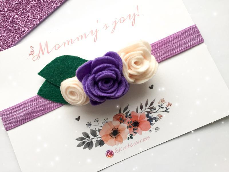 Повязка с цветами