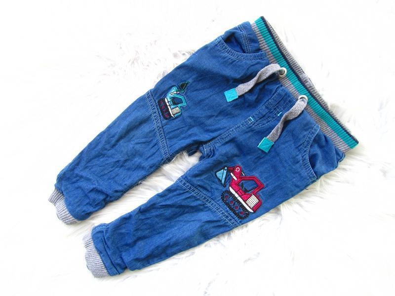 Стильные утепленные джинсы  штаны брюки m&co
