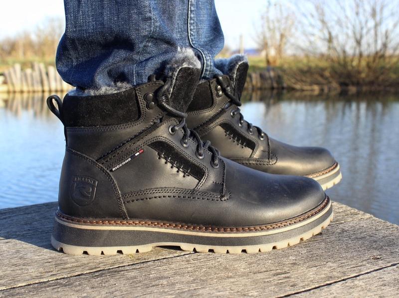 Мужские кожаные зимние ботинки - Фото 3