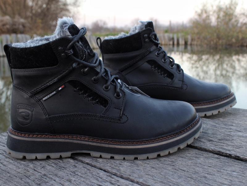 Мужские кожаные зимние ботинки - Фото 5
