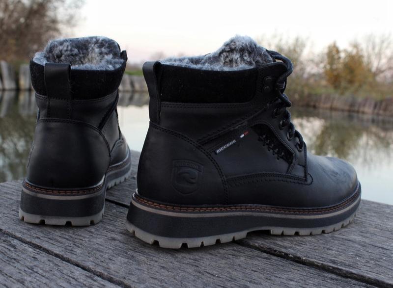 Мужские кожаные зимние ботинки - Фото 6