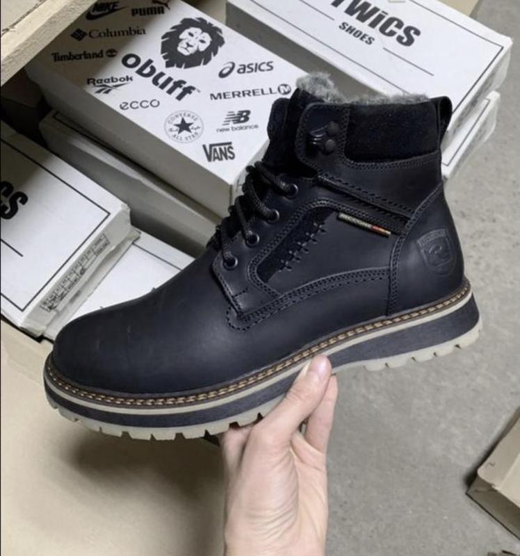 Мужские кожаные зимние ботинки - Фото 7