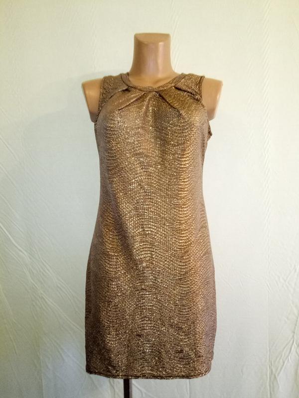 Платье золотистое трикотажное evita, р. 44-46.