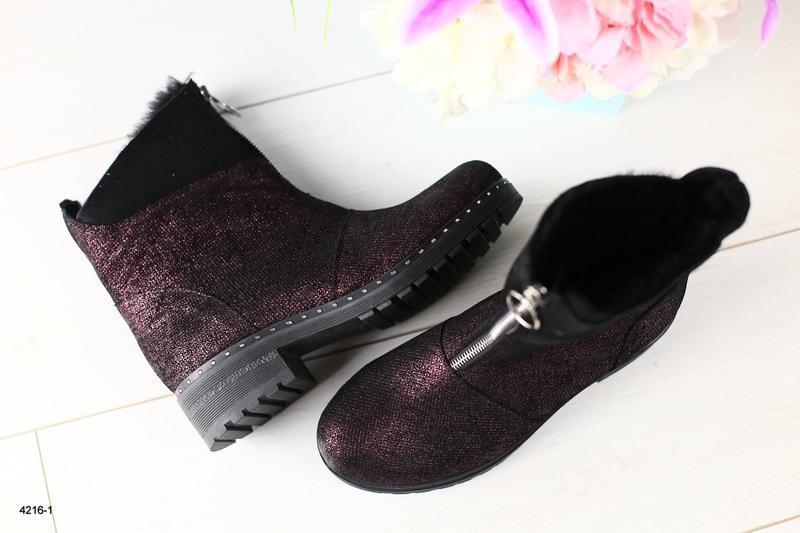 Lux обувь!36,37р!крутые натуральные зимние ботинки сапоги дубл...