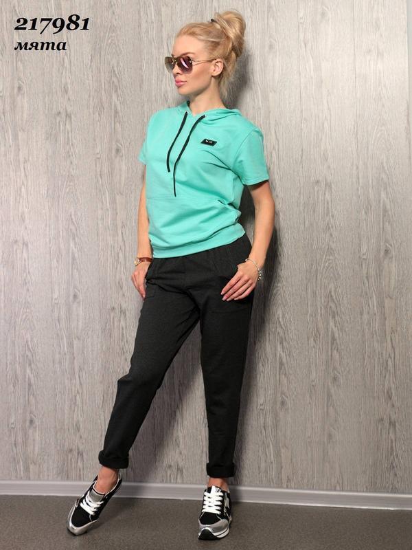Костюм с брюками турецкий бирюзовый