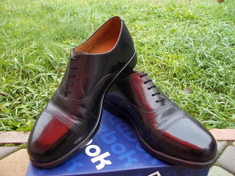 42 / 42.5 р  шикарные мужские туфли из толстой натуральной кож...