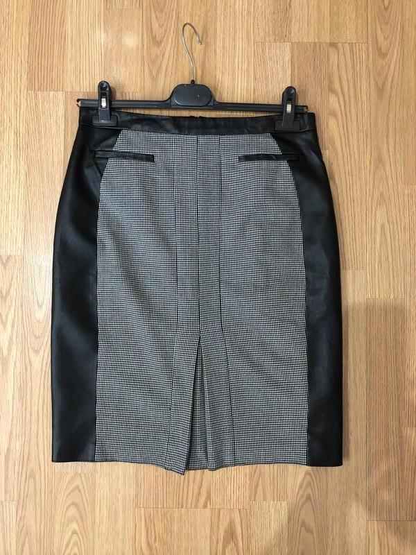 Классная юбка-карандаш гусиная лапка от бренда savida р-р 48