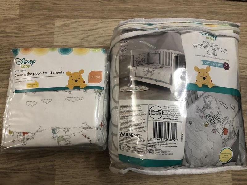 Набор детского постельного белья disney, 100% хлопок, новый!