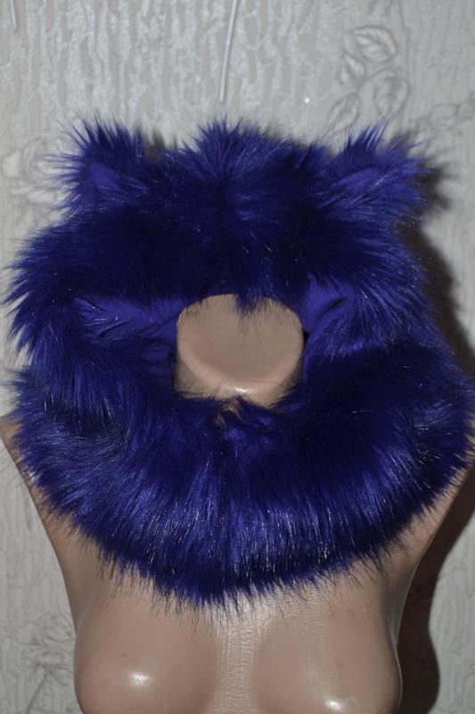 Зверошапка шапка с ушками теплая меховая капор шарф шапка на м...