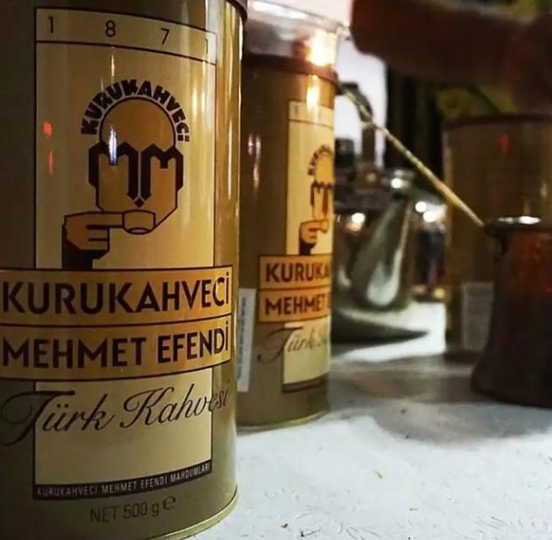 Турецкий кофе Mehmet Efendi в тубусе 500грамм. Арабика - Фото 3