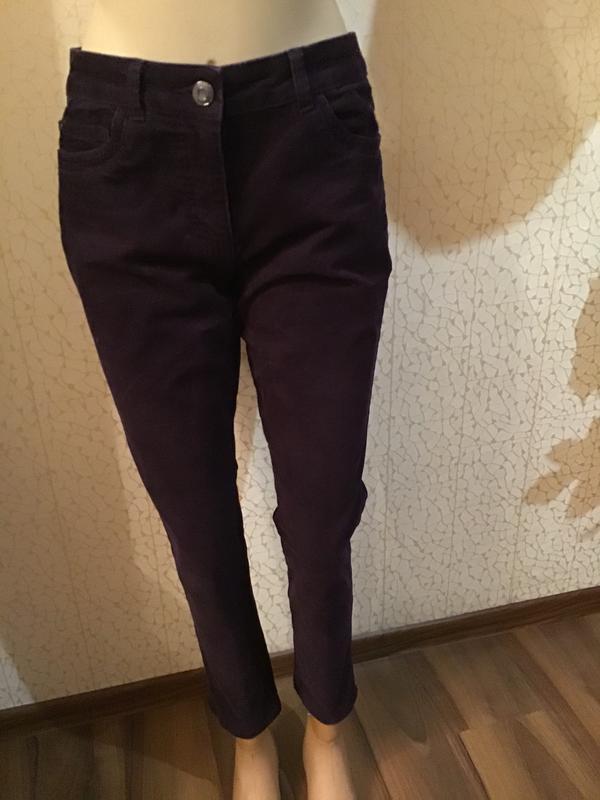 Стильные укороченные брюки/теплые брюки/микровильветовые брюки