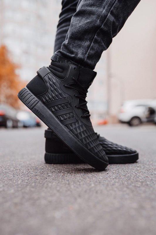 Шикарные мужские осенние кроссовки adidas black 😍 (еврозима/ б...