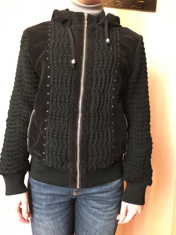 Комбинированная куртка вельвет трикотаж