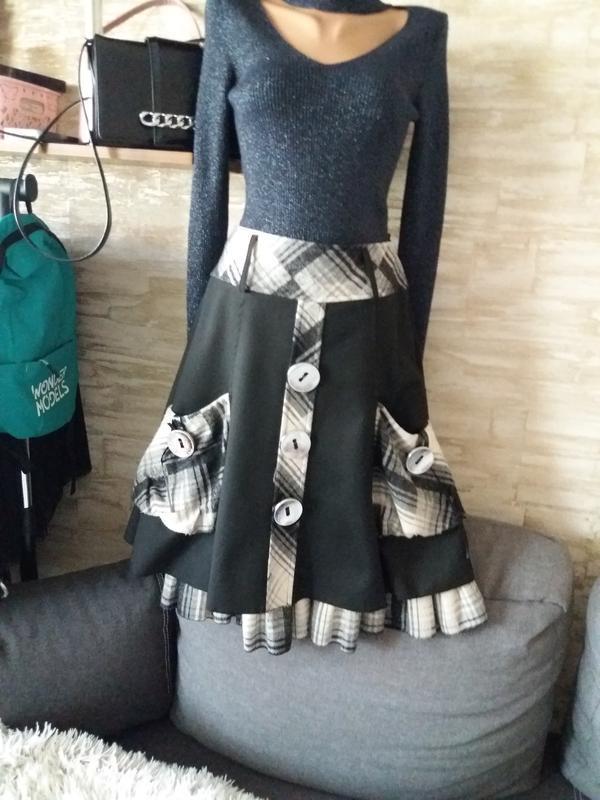 Супер  юбка миди с карманами