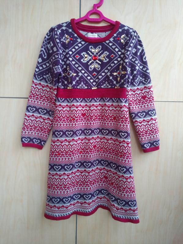 Красивенное теплое платье monsoon на 7-8 лет