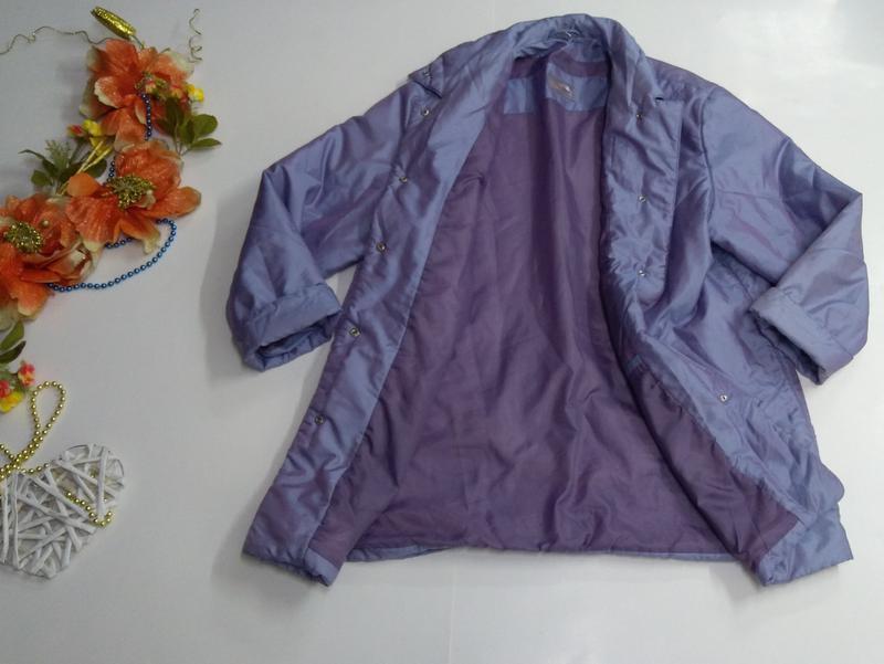 Женская куртка на кнопках весна - осень размер 50 - Фото 3
