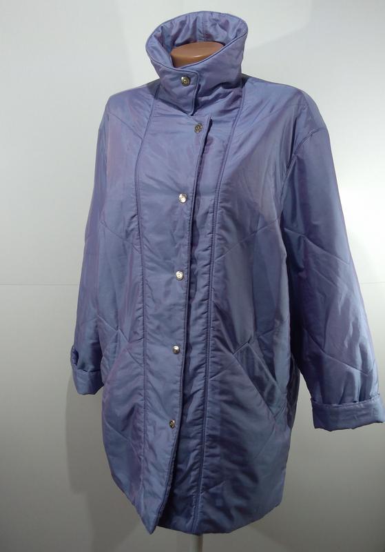 Женская куртка на кнопках весна - осень размер 50 - Фото 5