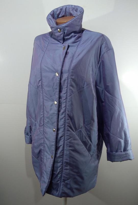 Женская куртка на кнопках весна - осень размер 50 - Фото 6