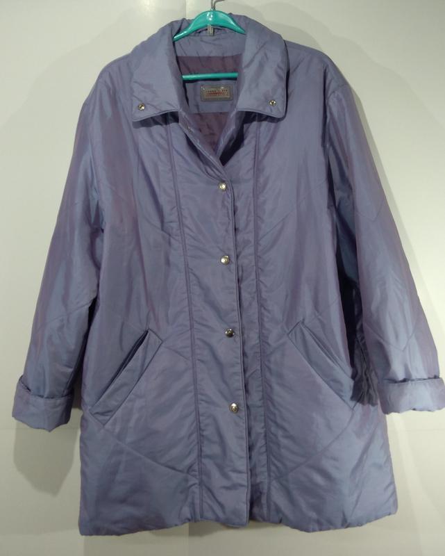 Женская куртка на кнопках весна - осень размер 50 - Фото 7