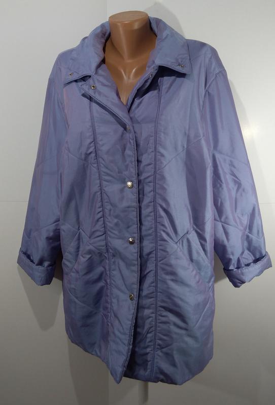 Женская куртка на кнопках весна - осень размер 50 - Фото 8