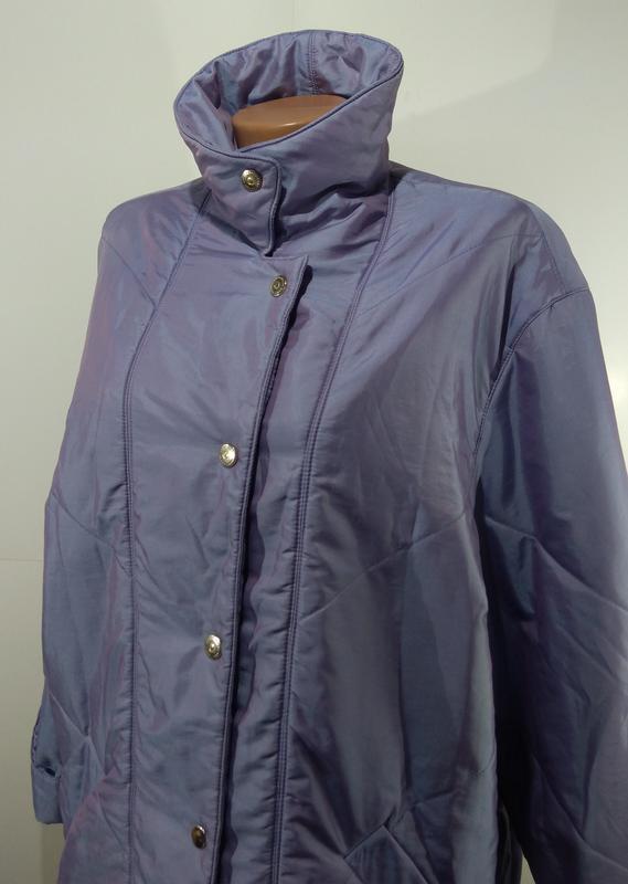 Женская куртка на кнопках весна - осень размер 50 - Фото 9