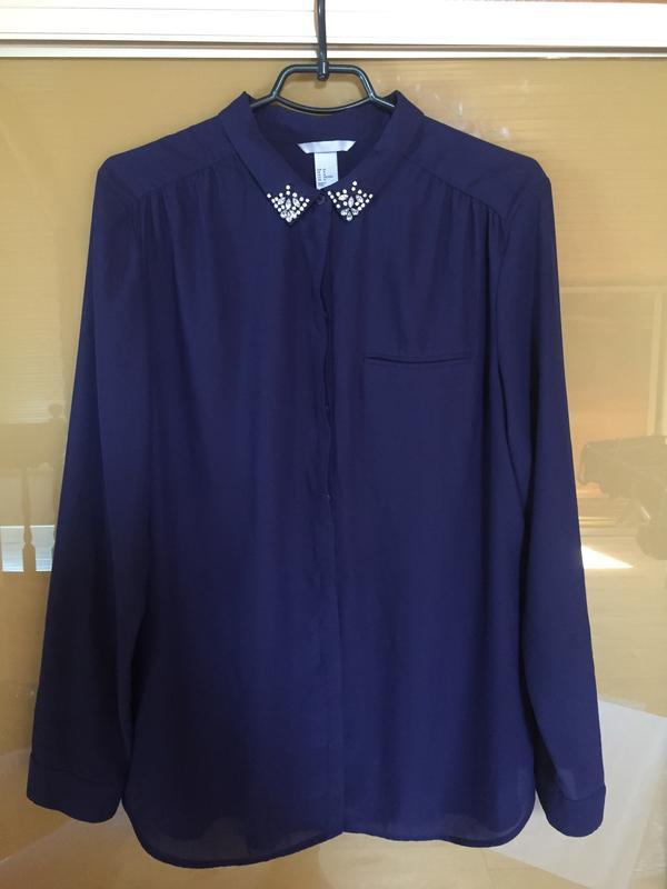 Нарядная блуза блузка с камнями с украшением h&m