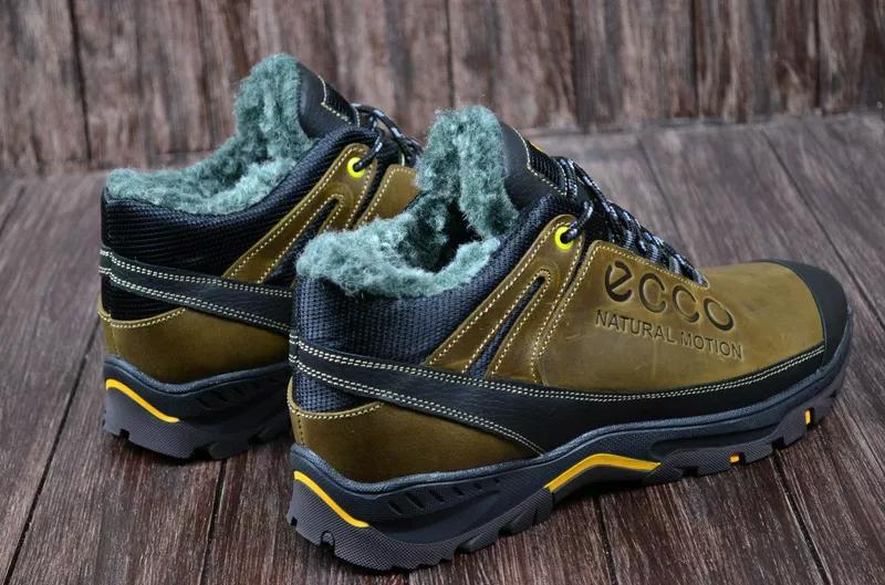 Мужские кожаные зимние ботинки Ecco. Натуральная кожа. - Фото 4