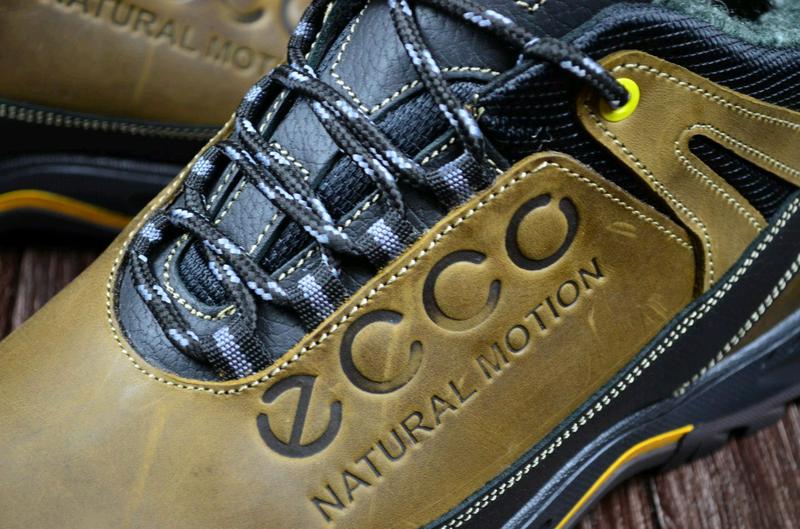 Мужские кожаные зимние ботинки Ecco. Натуральная кожа. - Фото 6
