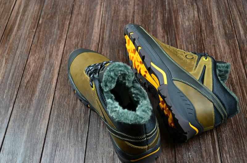 Мужские кожаные зимние ботинки Ecco. Натуральная кожа. - Фото 9