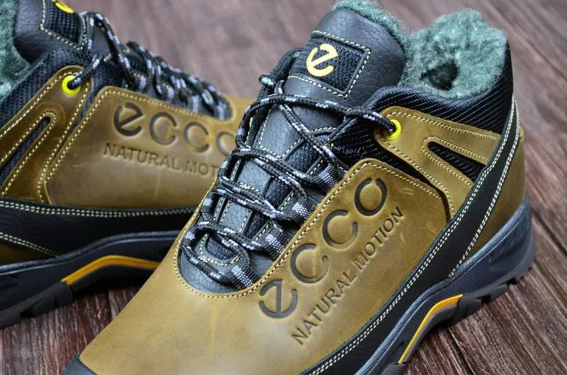 Мужские кожаные зимние ботинки Ecco. Натуральная кожа. - Фото 5