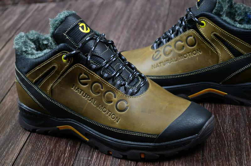 Мужские кожаные зимние ботинки Ecco. Натуральная кожа. - Фото 10