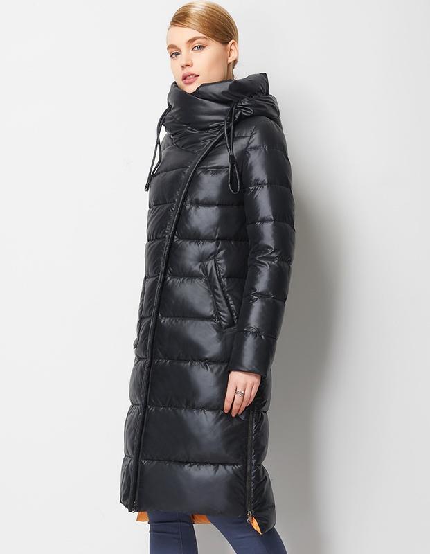 Пуховик женский теплый длинный зимний. куртка пальто с капюшон...