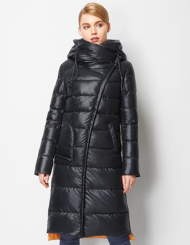 Пуховик женский теплый длинный зимний. куртка пальто с капюшон... - Фото 2