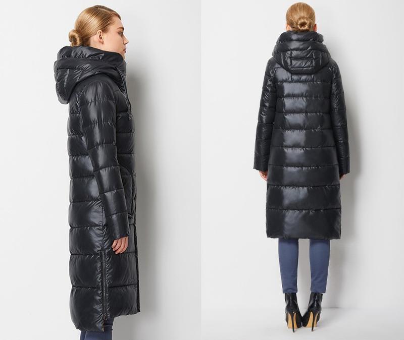 Пуховик женский теплый длинный зимний. куртка пальто с капюшон... - Фото 4