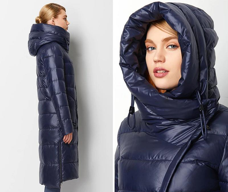 Пуховик женский теплый длинный зимний. куртка пальто с капюшон... - Фото 6
