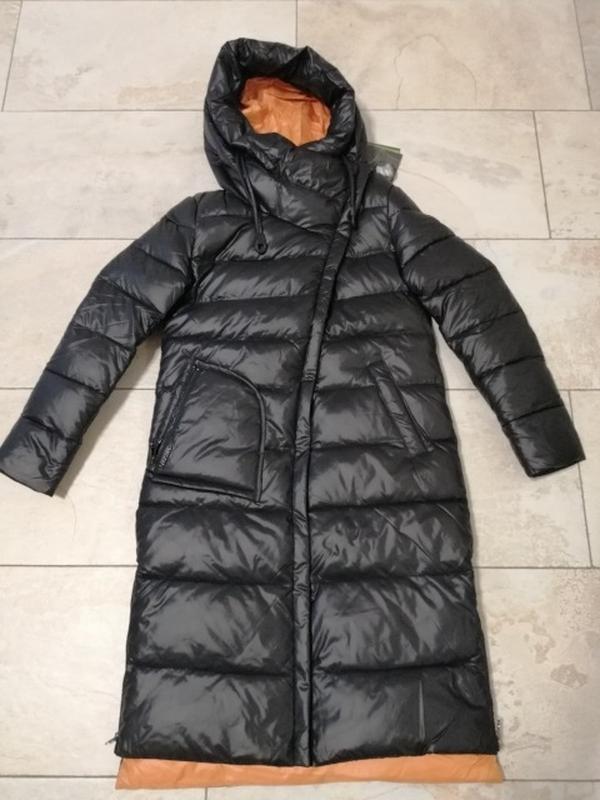 Пуховик женский теплый длинный зимний. куртка пальто с капюшон... - Фото 9