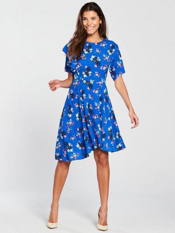 Новое брендовое красивое платье с воланом ассиметрия 18/52-54 ...
