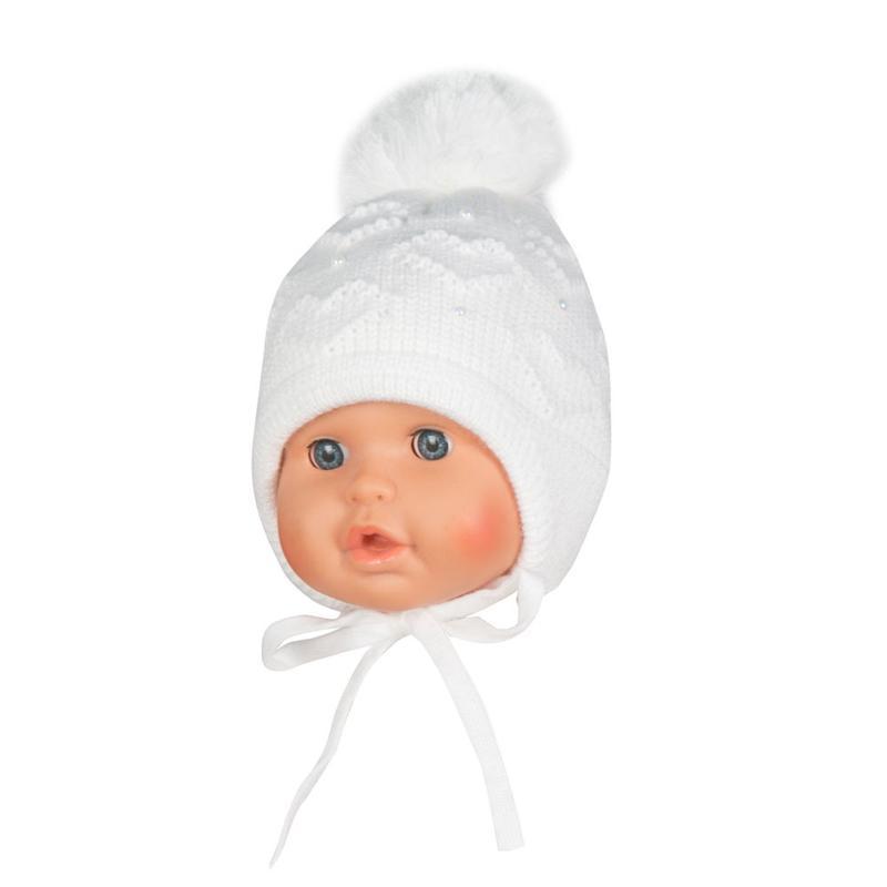Зимняя шапка для девочки 40/42см