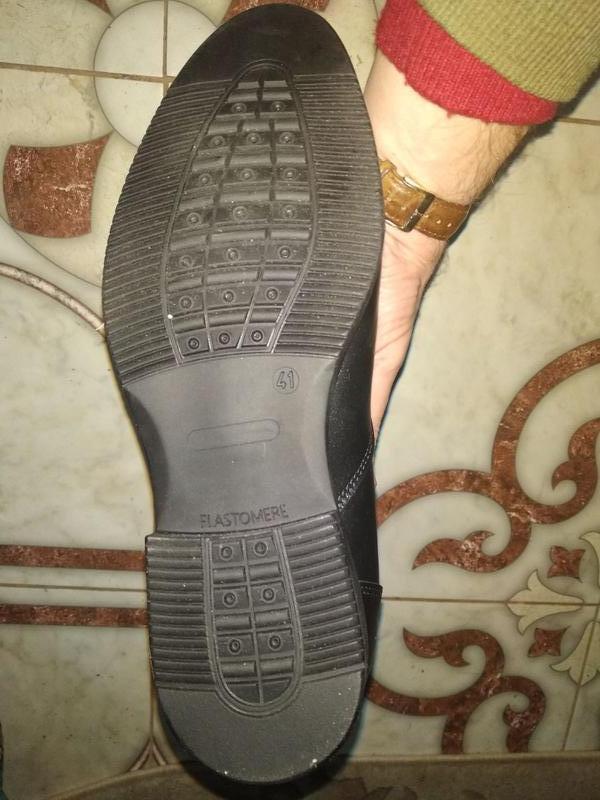 Мужские кожаные короткие зимние ботинки - Фото 2