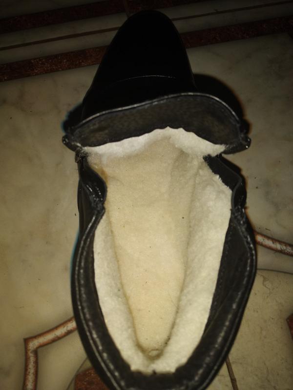 Мужские кожаные короткие зимние ботинки - Фото 3