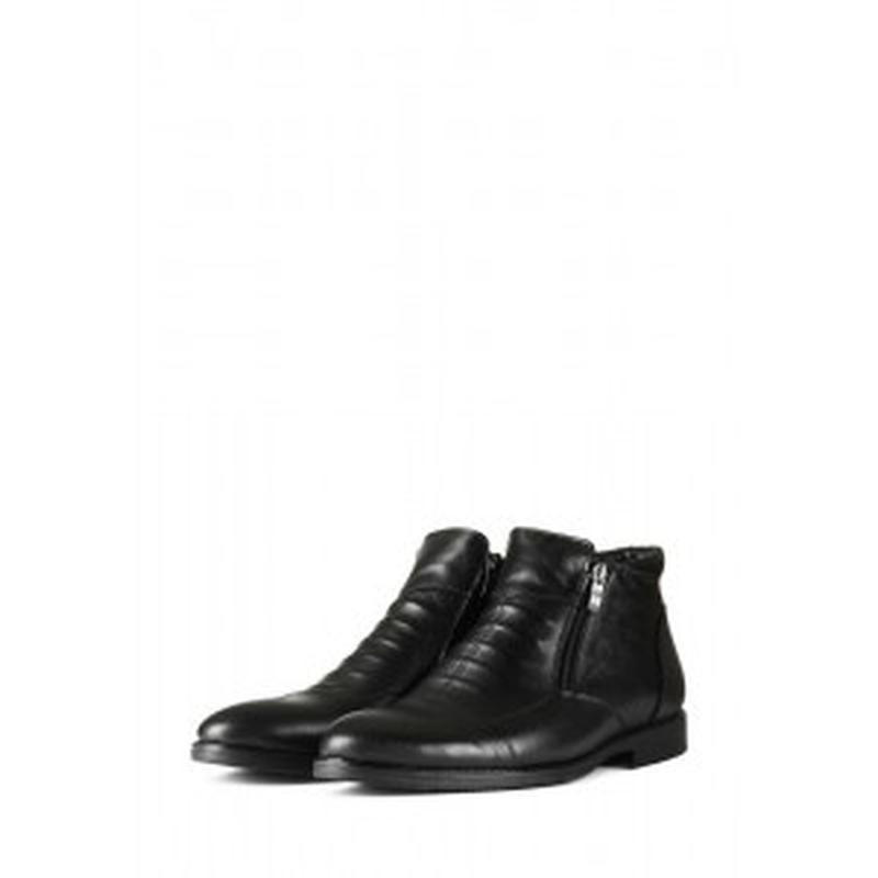 Мужские кожаные короткие зимние ботинки - Фото 4