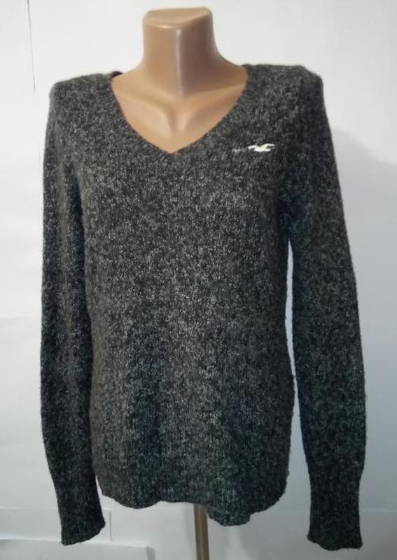 Джемпер пуловер фирменный привлекательный hollister uk 10/38/s