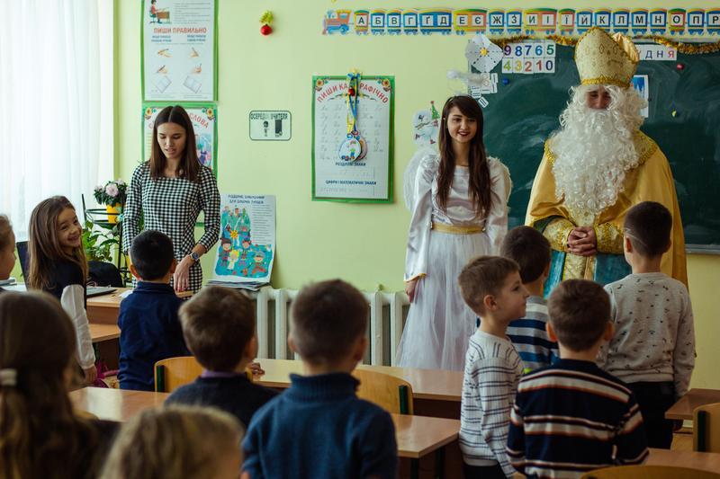 Замовити Св. Миколая та Ангелика в садочок школу додому Львів