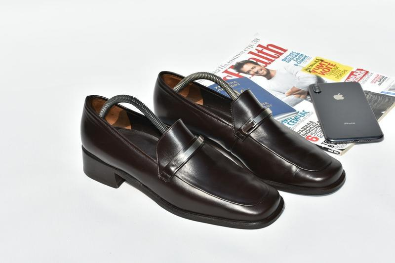Paul green оригинал мужские туфли мокасины  кожаные коричневые...