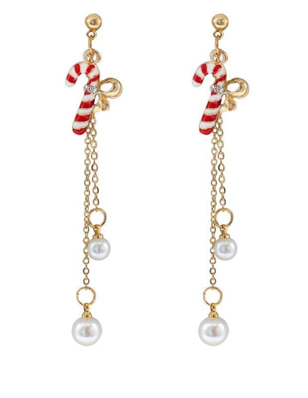 🏵новогодние серьги на цепочках - нарядный подарок на новый год...