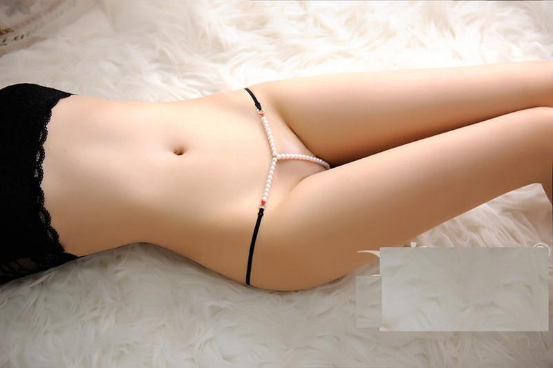 5-159 стринги с жемчужной нитью трусики с бусинками сексуально...