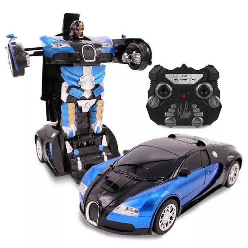 Машинка Трансформер Bugatti Robot Car с пультом Size